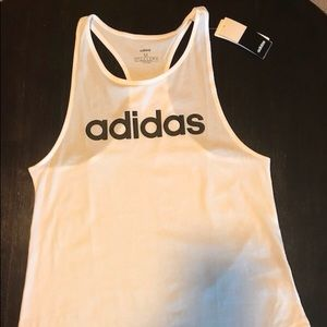 Adidas white workout shirt